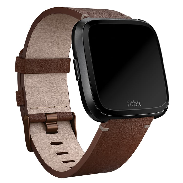 Fitbit Versa Leather Cognac Band Main