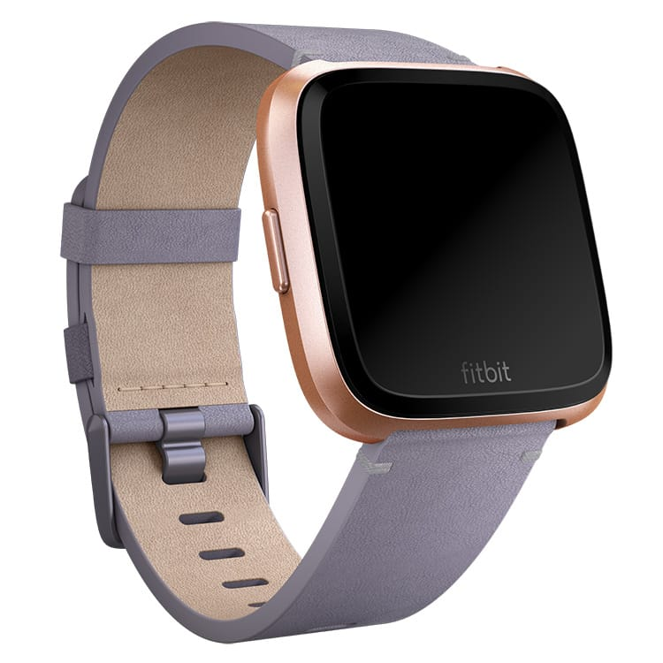 Fitbit Versa Leather Lavender Band Main