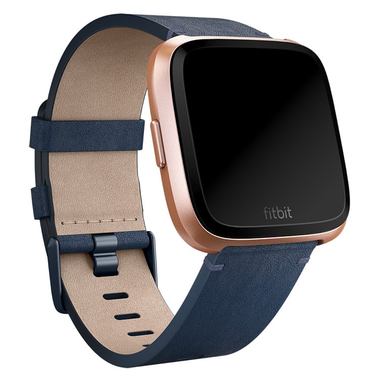 Fitbit Versa Leather Midnight Blue Band Main