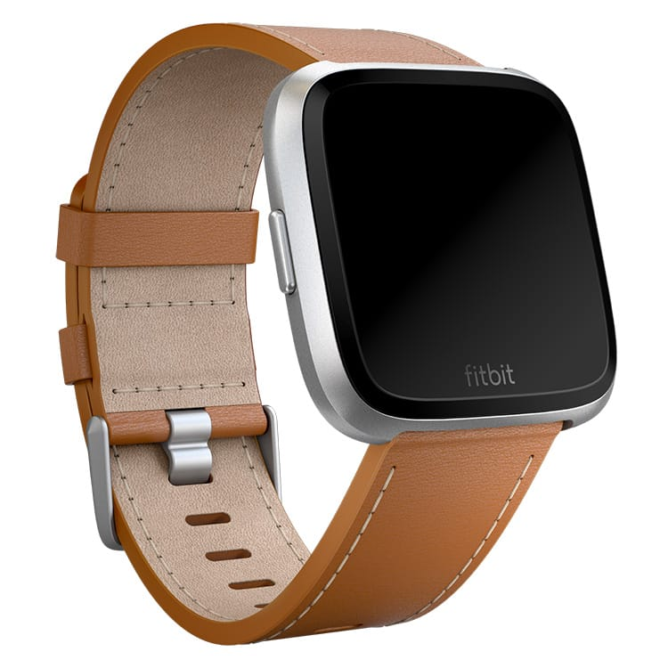Fitbit Versa Leather Saddle Stitch Band Main