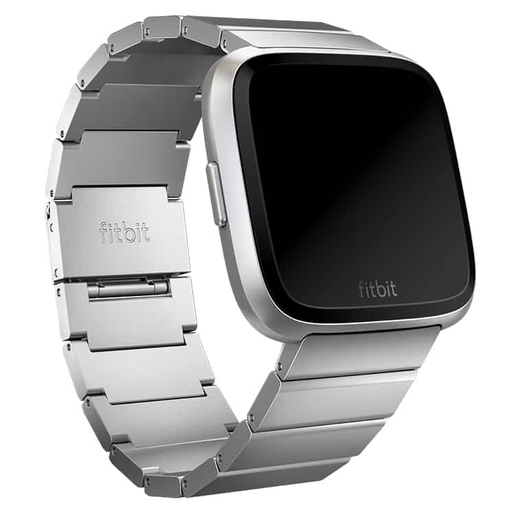 Fitbit Versa Metal Links Silver Band Main