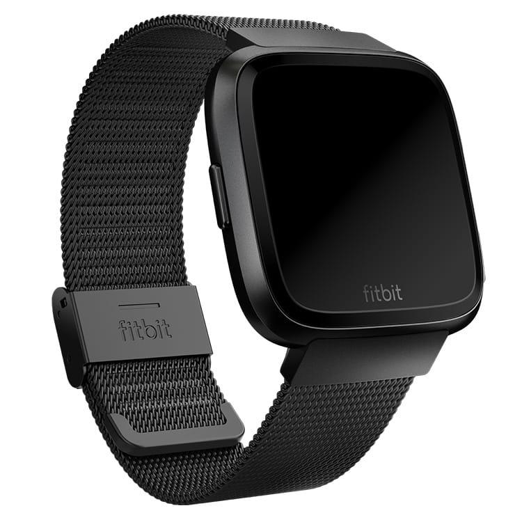 Fitbit Versa Metal Mesh Black Band Main