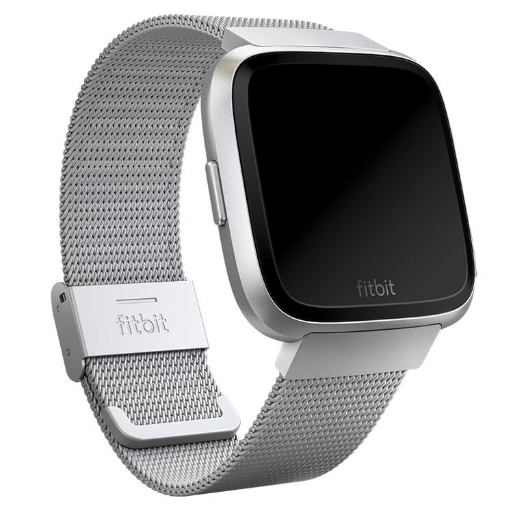 Fitbit Versa Metal Mesh Silver Band Main