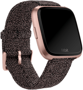 Fitbit Versa Knit Band Black Rose Gold Metallic
