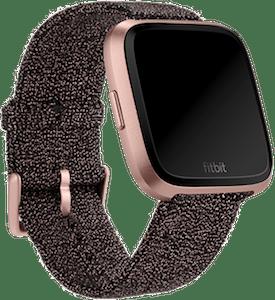 Fitbit Versa Knit Band Black Rose Gold Metallic