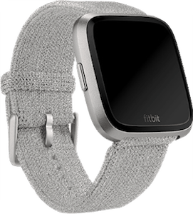 Fitbit Versa Metallic Knit Band Silver