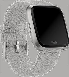 Fitbit Versa Metallic Knit Band Silver