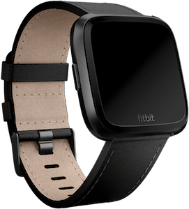 Fitbit Versa Leather Band Black