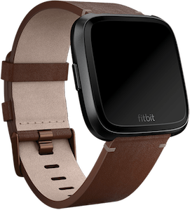 Fitbit Versa Leather Band Cognac