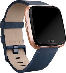 Fitbit Versa Leather Band Midnight Blue