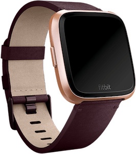Fitbit Versa Leather Band Plum
