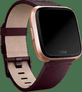 Fitbit Versa Leather Band Plum