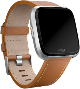 Fitbit Versa Leather Band Saddle Stitch
