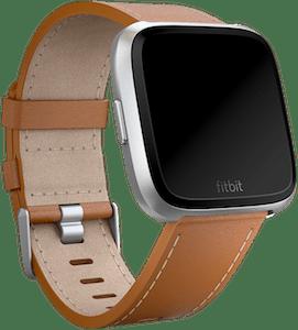 Fitbit Versa Leather Band Saddle Stitch