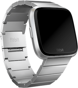Fitbit Versa Metal Links Band Silver