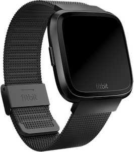 Fitbit Versa Metal Mesh Band Black
