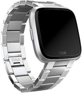 Fitbit Versa Metal Tapered Band Silver