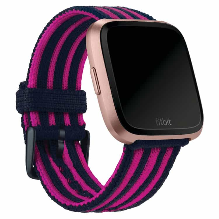 Fitbit Versa Navy Pink Stripe Knit Band