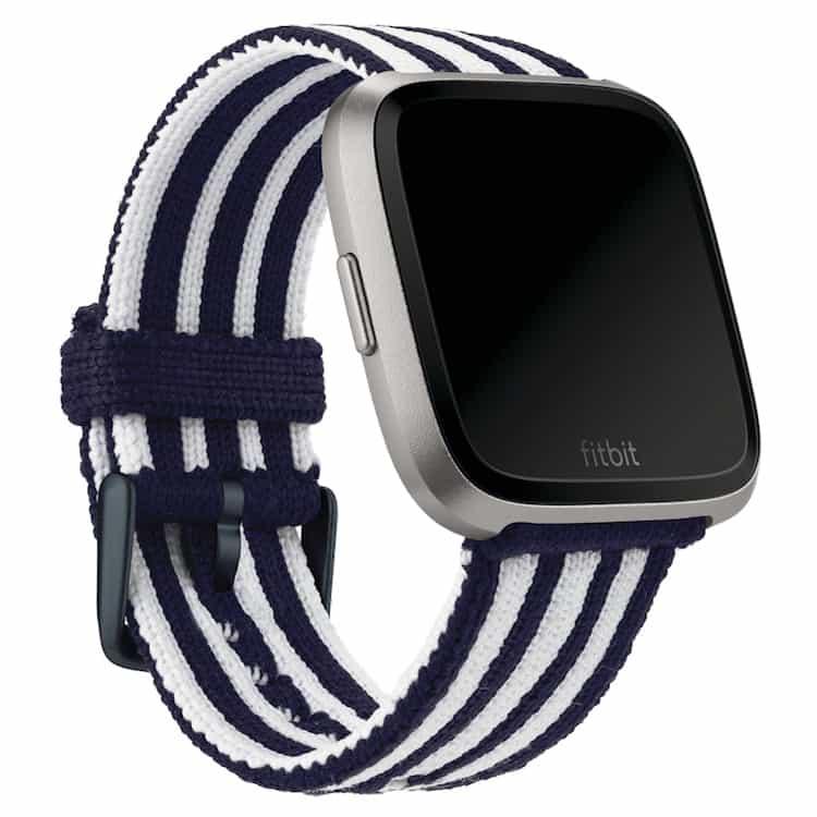 Fitbit Versa Navy White Stripe Knit Band