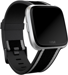 Fitbit Versa Woven Hybrid Band Black Gray