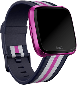 Fitbit Versa Woven Hybrid Band Navy Mulberry