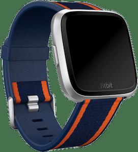 Fitbit Versa Woven Hybrid Band Navy Orange