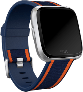 Fitbit Versa Woven Hybrid Band Navy Orange