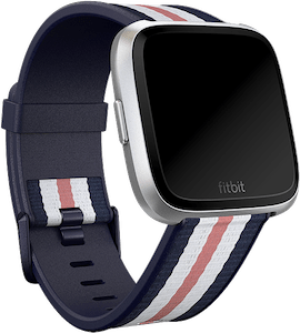 Fitbit Versa Woven Hybrid Band Navy Soft Pink