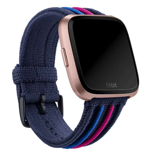 Fitbit Versa Navy Multi Rib Knit Band Main
