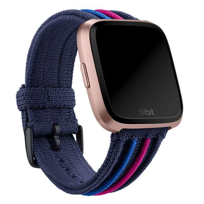 Fitbit Versa Navy Multi Rib Knit Band Main