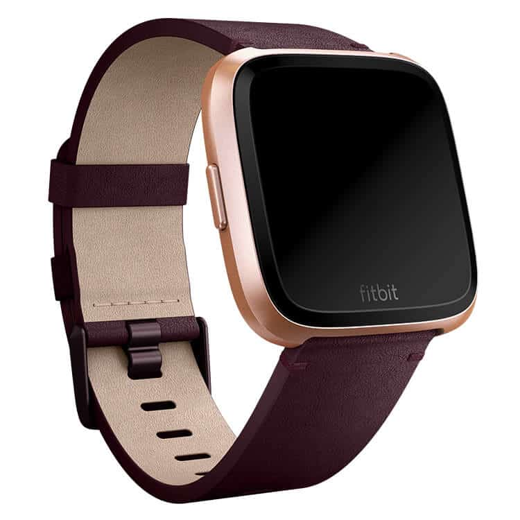 Fitbit Versa Plum Leather Band Main