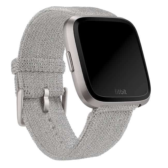 Fitbit Versa Silver Metallic Knit Band Main