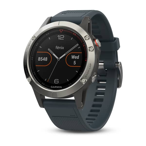 Garmin Fenix 5 Silver with Granite Blue Band