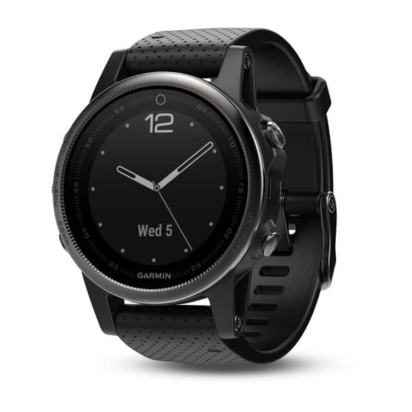 Garmin Fenix 5S Sapphire Black with Black Band