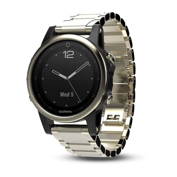 Garmin Fenix 5S Sapphire Champagne with Metal Band