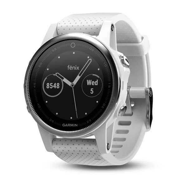 Garmin Fenix 5S White with White Band