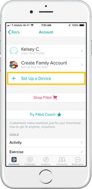 How to set up Fitbit Charge 3 iPhone Account
