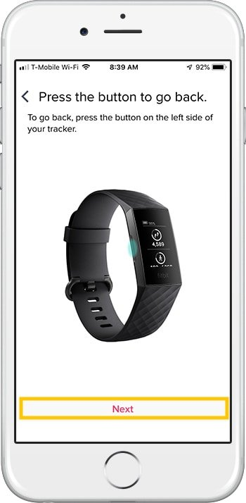 How to set up Fitbit Charge 3 iPhone Back