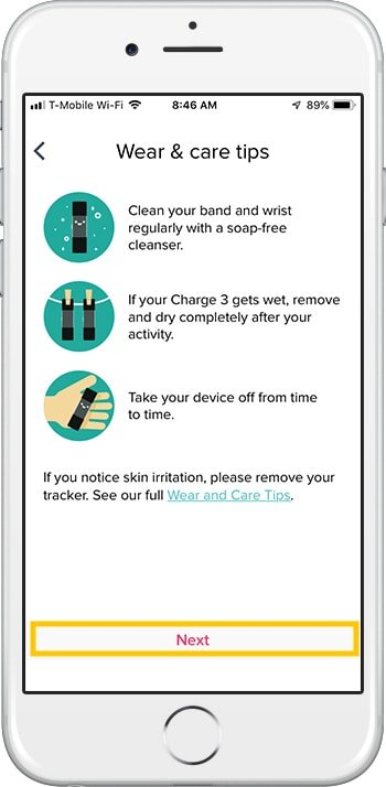 How to set up Fitbit Charge 3 iPhone Care