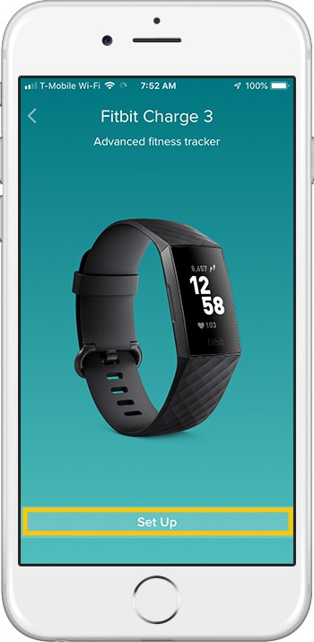 How to set up Fitbit Charge 3 iPhone Confirm