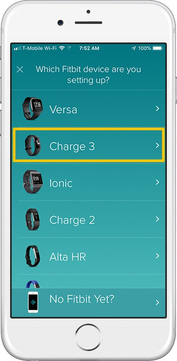 How to set up Fitbit Charge 3 iPhone Device