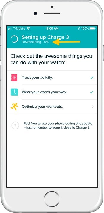 How to set up Fitbit Charge 3 iPhone Download