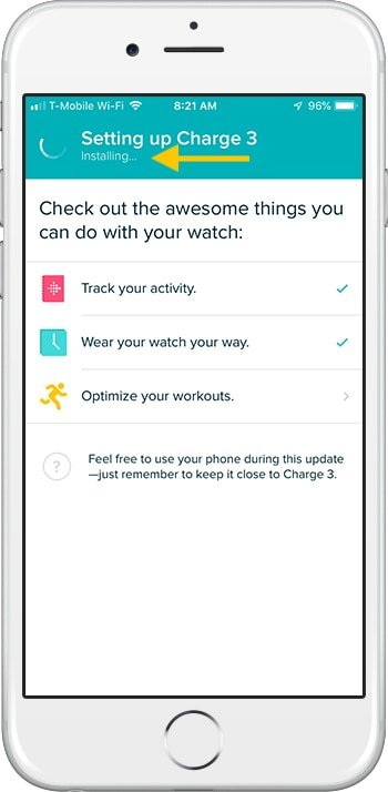 How to set up Fitbit Charge 3 iPhone Install