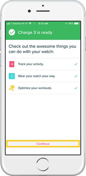 How to set up Fitbit Charge 3 iPhone Ready