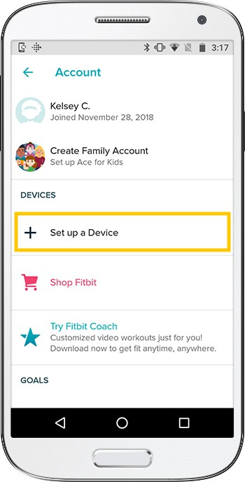 How to set up Fitbit Versa Android Account