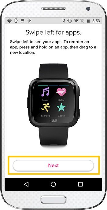 How to set up Fitbit Versa Android Apps