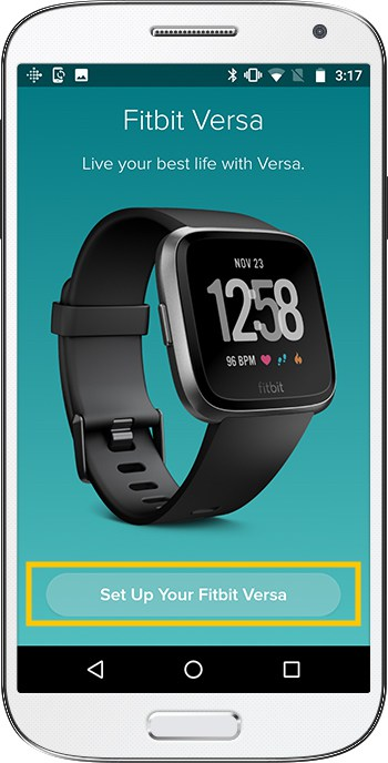How to set up Fitbit Versa Android Confirm