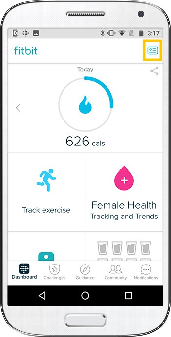 How to set up Fitbit Versa Android Dashboard
