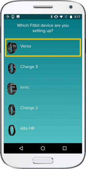 How to set up Fitbit Versa Android Device
