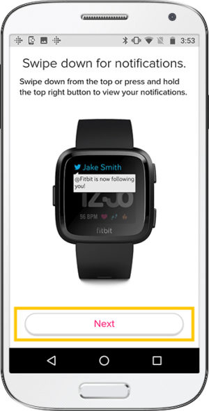 How to set up Fitbit Versa Android Notifications